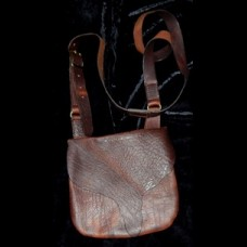 Bison Leather Bucktail Flap Bag